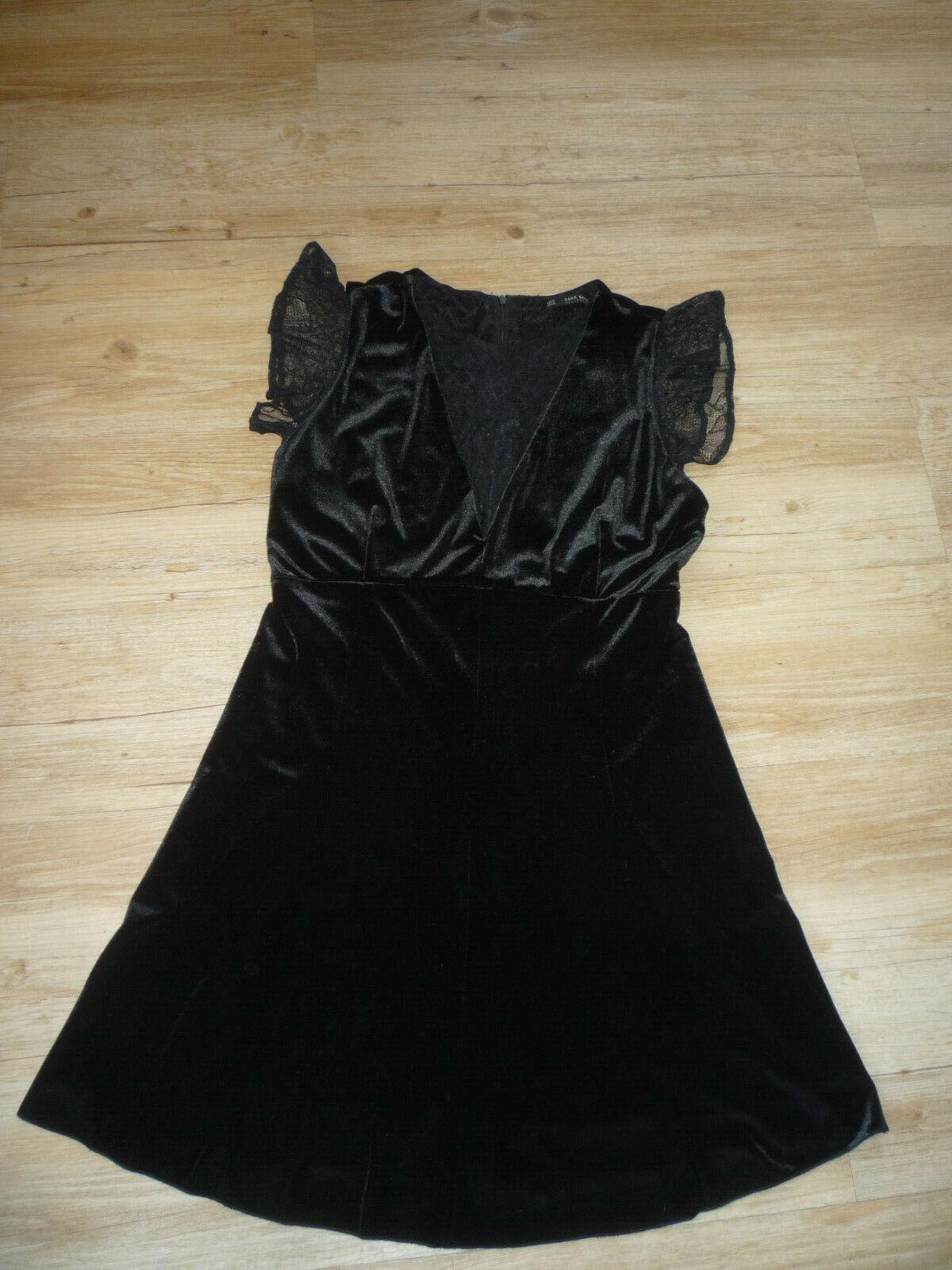 Kleid, Kurzarm, festlich, schwarze Spitze, Zara, neu, 2020, M, 38,40, schwingend