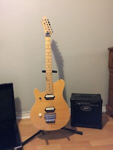 Left handed Guitar and Mini Amp