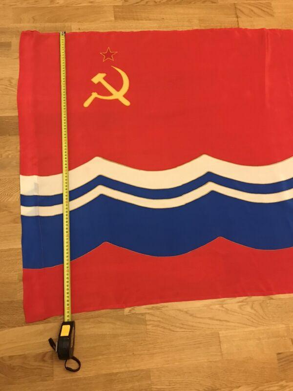Authentic Big Flag Estonia Estonian Soviet Socialist Republic USSR Vintage