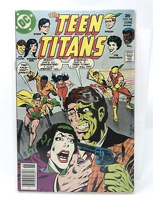 "Teen Titans #48 1st Duela Dent ""The Harlequin"" Appearance DC Comics FN Two-Face"