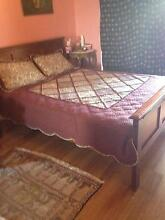 Wooden bed. Queen size bed. Liverpool Liverpool Area Preview