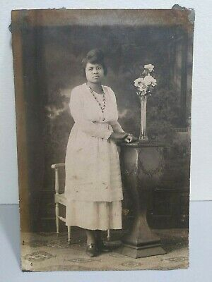 MAY1 Vintage African American Photo 4x6 Chubby Ladies Fashion Very Old Portrait  for sale  Shipping to Nigeria