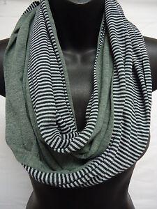 RIKKA Cotton Jersey Infinity Scarf Stripe Solid Heathered