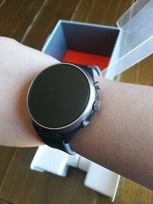 New Fossil Women's Gen 4 Black gray Touchscreen Sport Smartwatch FTW6024J