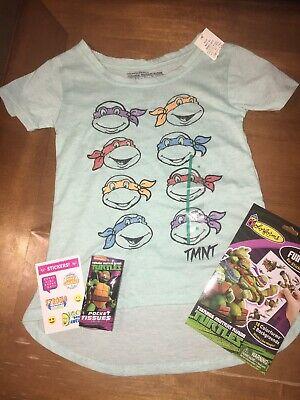 Girls Sparkly Ninja Turtle Sz M 7 8 Shirt Birthday Playset Justice Stickers Lot](Ninja Turtle Birthday Shirts)