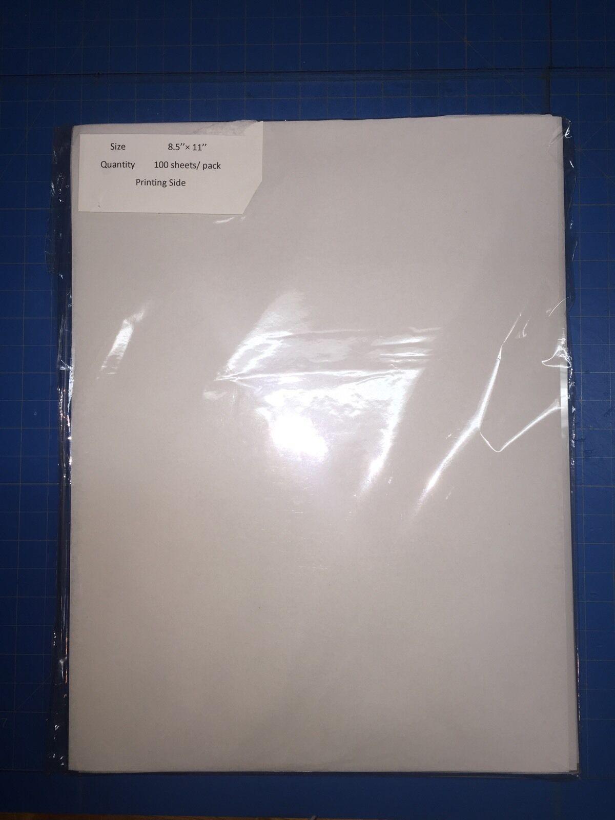 Premium Transparency Film Inkjet Paper Pack Of 100 Sheets...