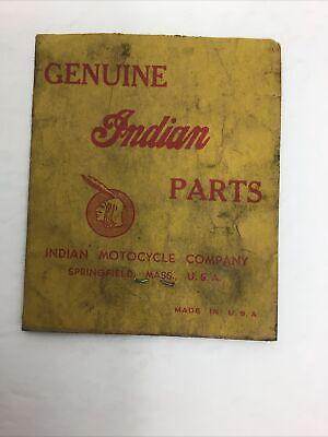 ORIGINAL Vintage Indian Motorcycle Parts Envelope GREAT GRAPHIC's