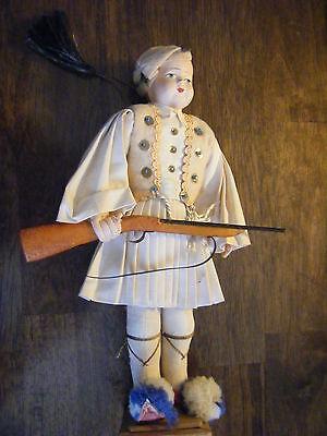 Doll  - Greek Freedom Fighter  - Souvenir  - Rifle  - Native Costume
