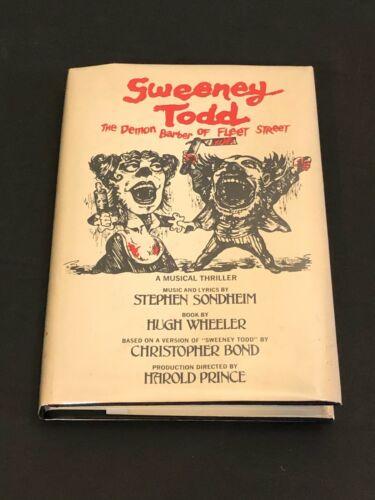 Stephen Sondheim Sweeney Todd Broadway Signed Autograph Hardback Book JSA