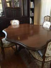 ANTIQUE DINING TABLE - Extendable & six chairs Albert Park Port Phillip Preview