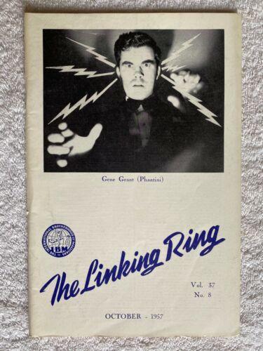 The Linking Ring magic magazine Oct. 1957 Vol 37 No. 8 Phantini! magicians Grant