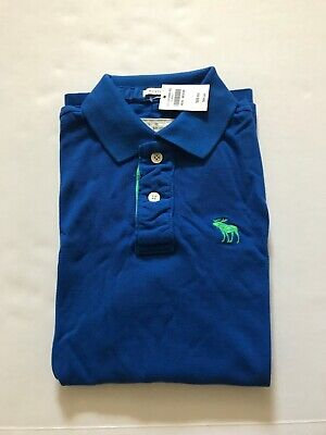 NWT Abercrombie & Fitch Men's Polo Shirt Muscle Fit Blue Size Medium