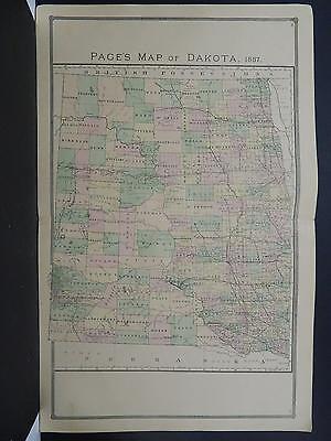 Dakota, Antique State Map, 1887 N1#10