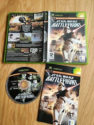 STAR WARS BATTLEFRONT ORIGINAL MICROSOFT XBOX GAME WITH MANUAL 2004 Free P&P