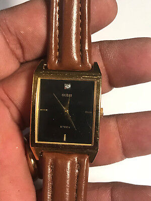 Nice Unisex Brown Band Guess Steel G95223G Analog Watch