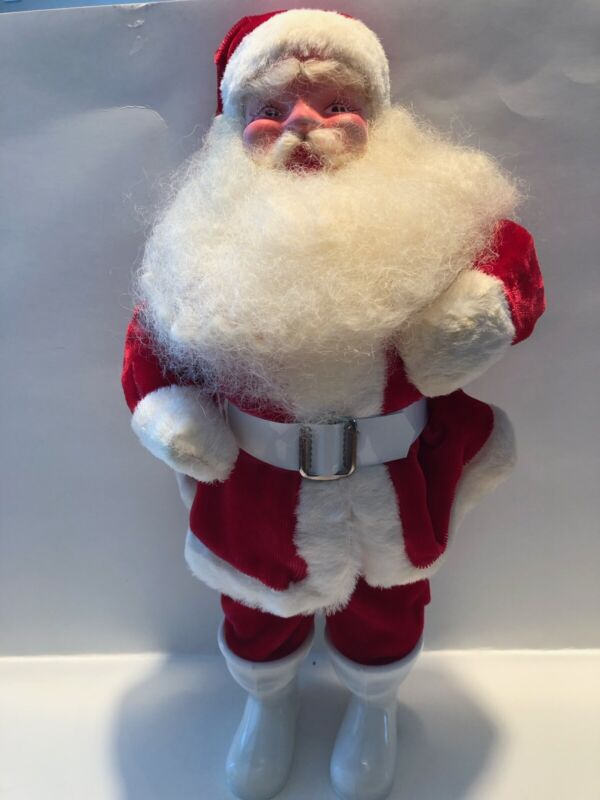 Vintage Harold Gale Santa. Red Suit. Full Beard. Stands 14 Inches Tall