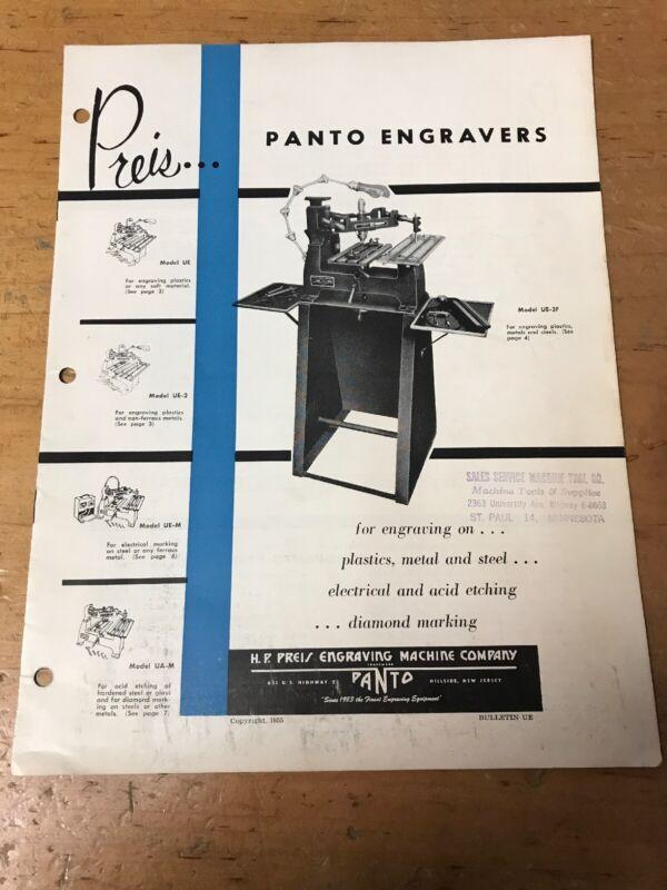 Preis Panto Engravers 1955 Book/magazine