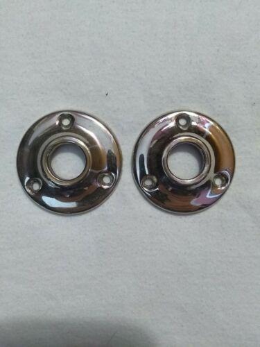 Vintage Chrome Doorknob Rosettes - $5.00