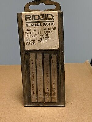 Ridgid Tool 500b Bolt Dies 58-11 Unc Pn 48485