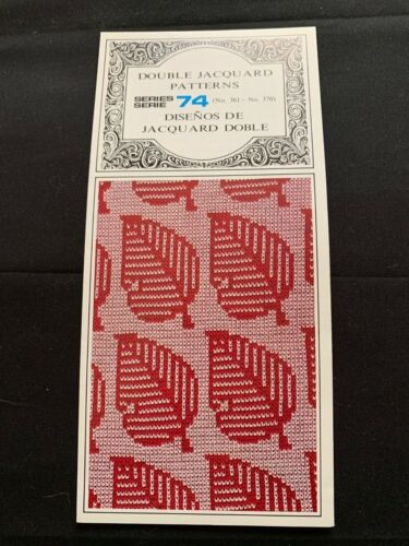PC423 SILVER REED KNITTING MACHINE PUNCH CARDS PATTERNS SERIES 74  361-370