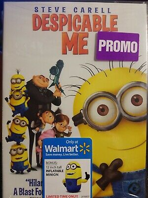 SEALED Despicable Me Walmart Promo Edition **WITH 12 INCH INFLATABLE MINION*