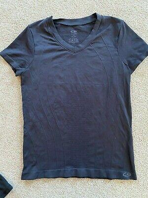 Sz XS C9 by Conqueror short-sleeved V-neck activewear tee in black