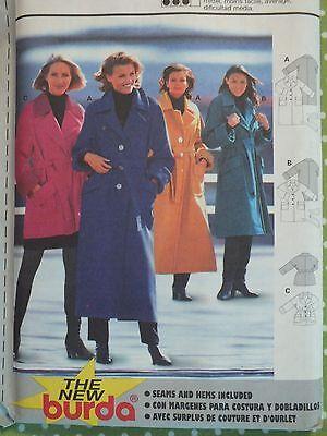 Amazing OOP BURDA 2874 Misses Loose-fitting Coat or Jacket PATTERN 8-18 UC