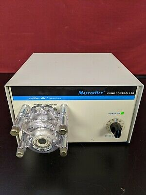 Cole Parmer Masterflex Variable Speed Peristaltic Pump 7553-50 W Head Tested