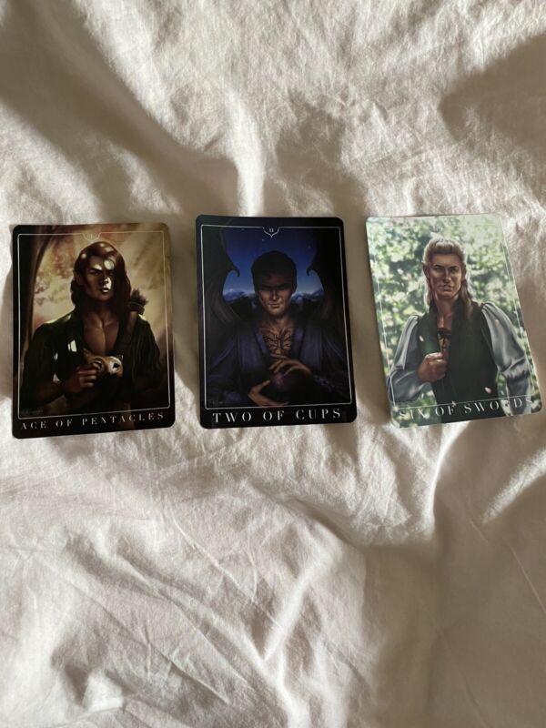 ACOTAR Sarah J Maas Tarot Cards Fairyloot Owlcrate Bookish Box