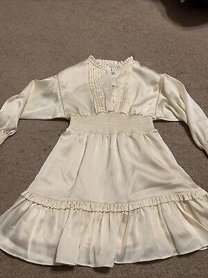 Designers Remix Little Girls Ivory Creme Dress Size 8 Ruffle