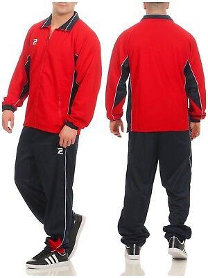 Patrick Herren Trainingsanzug Jogginganzug rot blau weiß Red - Patrick Anzug