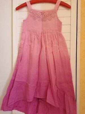 langes Mädchenkleid Häkelspitze Pailletten rosa/pink Topolino Gr. 128