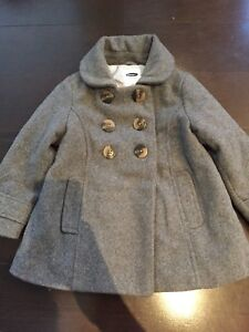 Double Breasted Peacoat in Grey