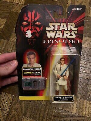 1998 Star Wars Episode 1 Obi-Wan Kenobi Commtech Chip Action -