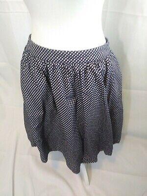 Navy And White Polka Dot Skirt (Boden Navy Blue and White Polka Dot Lined Skirt with Pockets SZ 12 UK SZ 8)