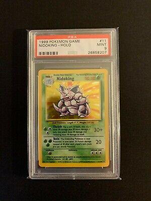 PSA 9 MINT Nidoking 11/102 Base Set HOLO RARE Pokemon Card