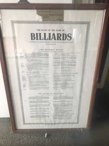 Billiards Rules Picture