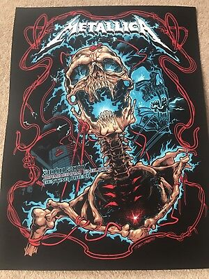 METALLICA SCREEN PRINTED POSTER BIRMINGHAM LG  ARENA  30/10/17  WORLDWIRED TOUR