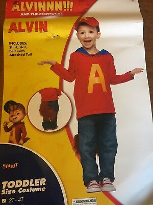 Spirit Brand Toddler Child ALVIN and The Chipmunks Halloween Costume 2T 4T](Alvin And The Chipmunks Costume)