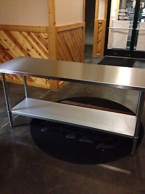 24x72 Stainless Steel Work Table With Under Shelf