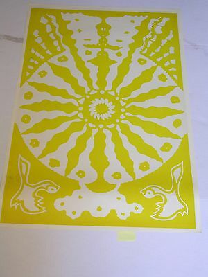 ETW PSYCHEDELIC TWO sided Poster EVENING RAGA with OVERPRINTED BACK