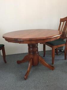Solid Timber Extendable Dining Table For Sale 50 Selling Due To Moving Overseas