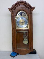 Howard Miller 620-156 Golden Oak Dual Chiming Wall Clock