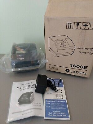 Lathem Time 1600e Wireless Atomic Time Clock With Tru-align Feature