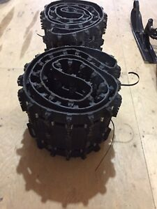 "2 factory skidoo take off tracks 129""X1.25"