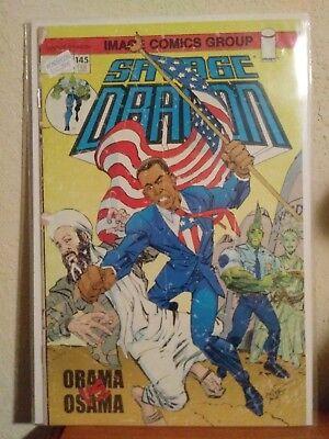 Savage Dragon Obama (Savage Dragon 145 Obama vs Osama WonderCon Variant)
