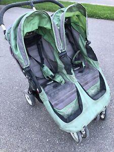 City Mini Double Stroller - Green & Grey