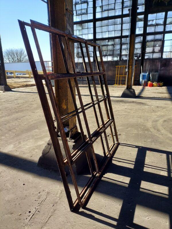 One Single Reclaimed Vintage Industrial Factory Steel Casement Window Frame