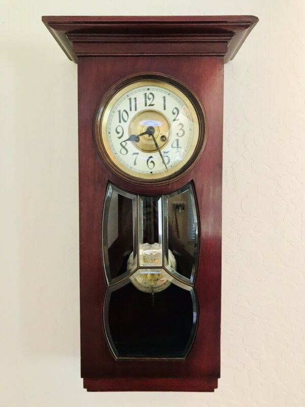 Antique German Schlenker Kienzle Art Nouveau Wall Clock