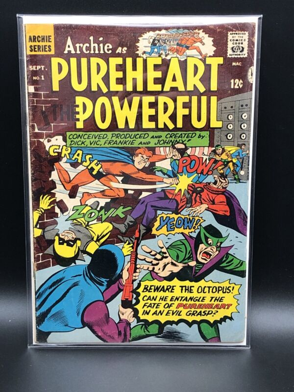 Archie As Pureheart The Powerful #1, 1966 MLJ Silver Age